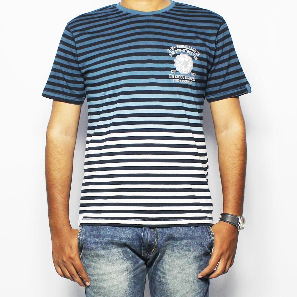 BFG Striped Men's Round Neck T-Shirt MTS0021