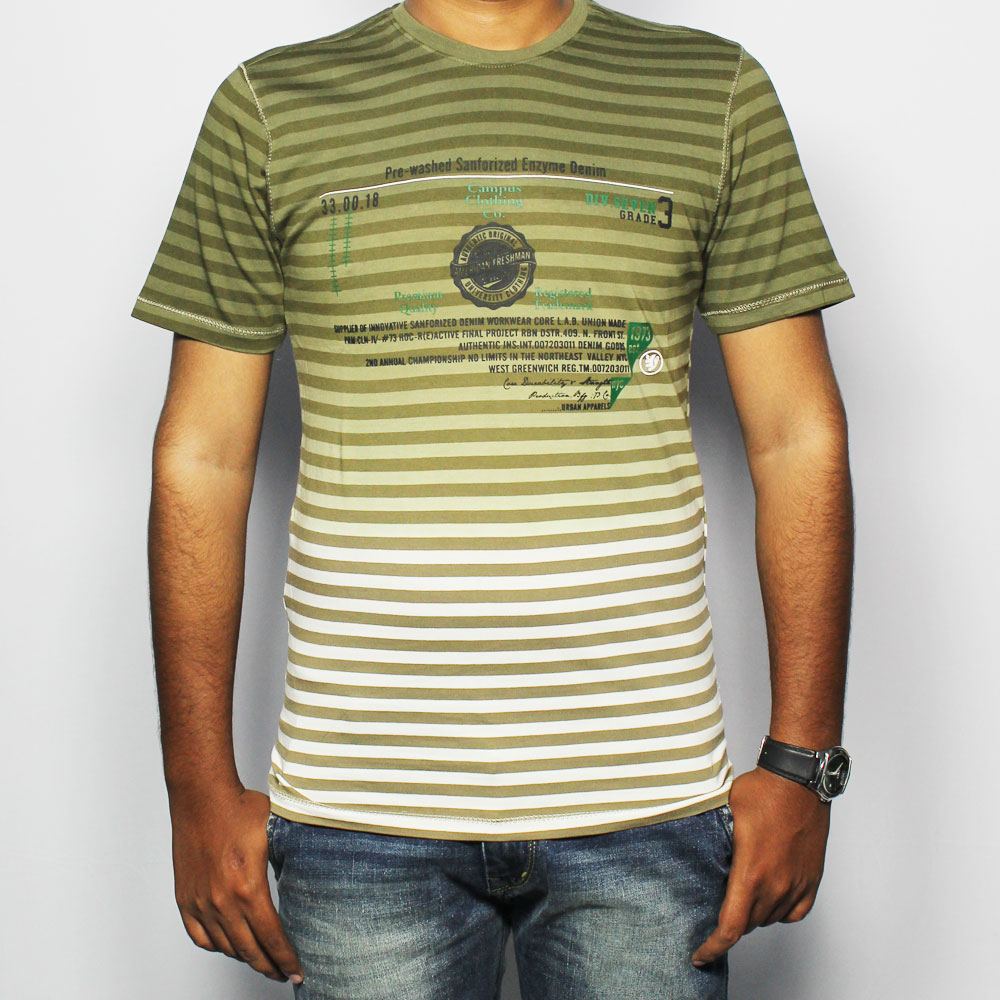 BFG Striped Men's Round Neck T-Shirt MTS0022
