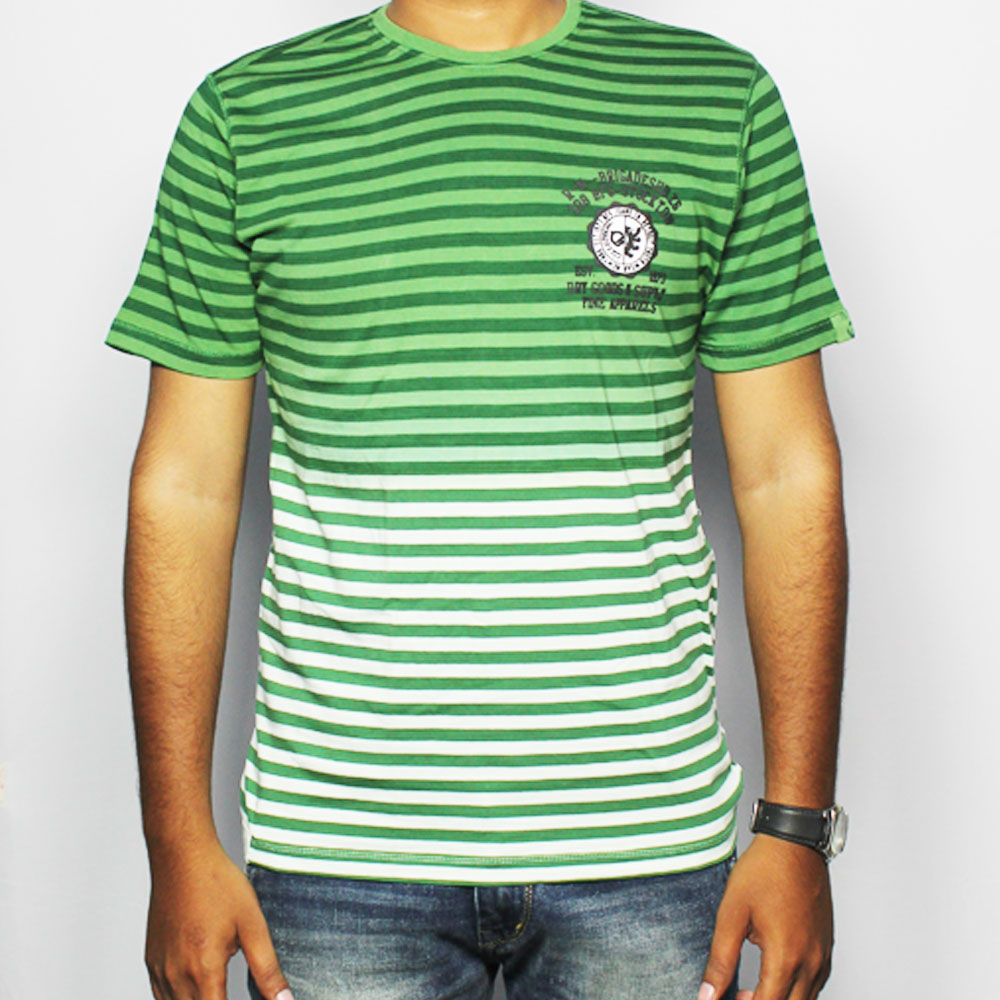 BFG Striped Men's Round Neck T-Shirt MTS0007