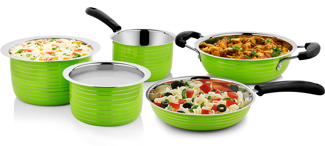 Cookaid Stainless Steel Induction Friendly Cookware 5 pc Set