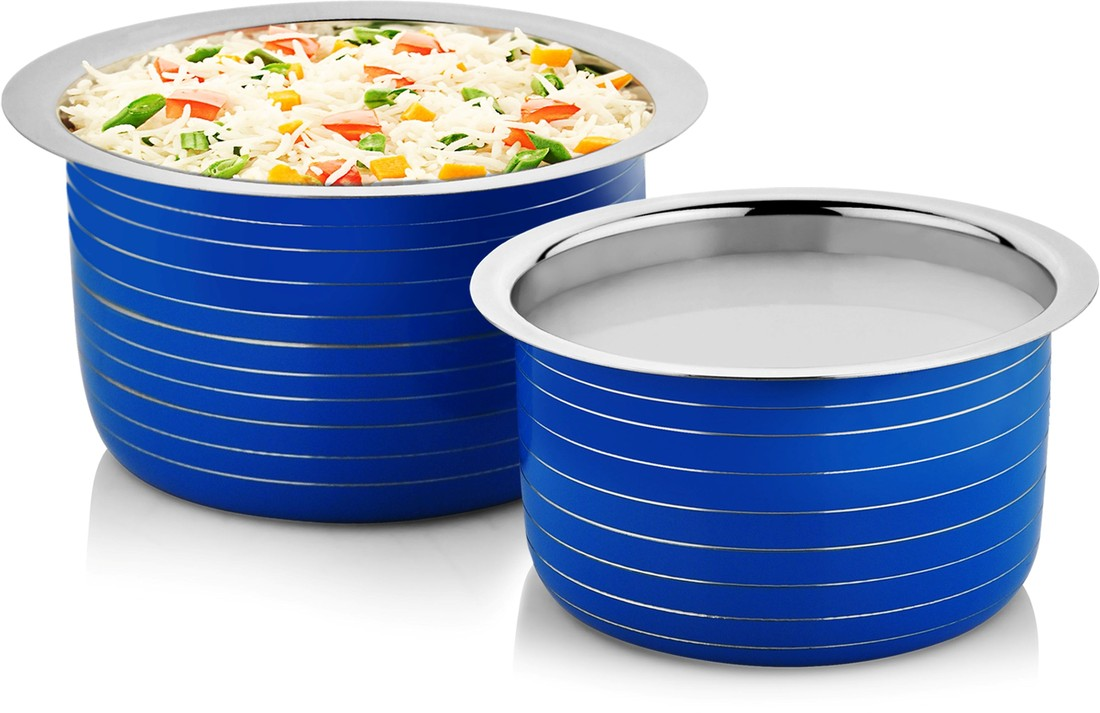 Cookaid Stainless Steel Tope Set 2Pc Blue(Pack of 2)