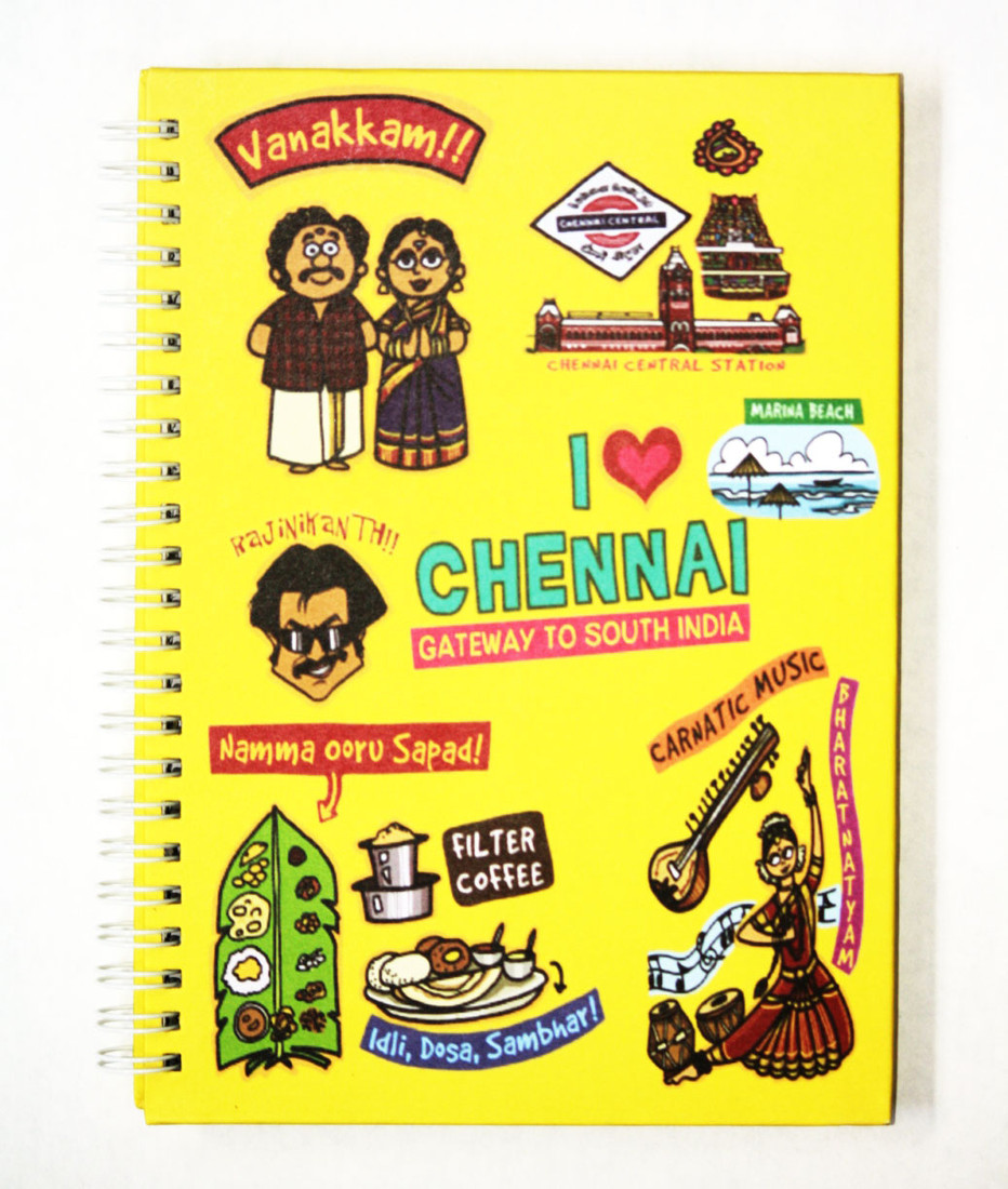 Eco Corner Small Chennai Ruled Exercise A4 Notebook Spiral
