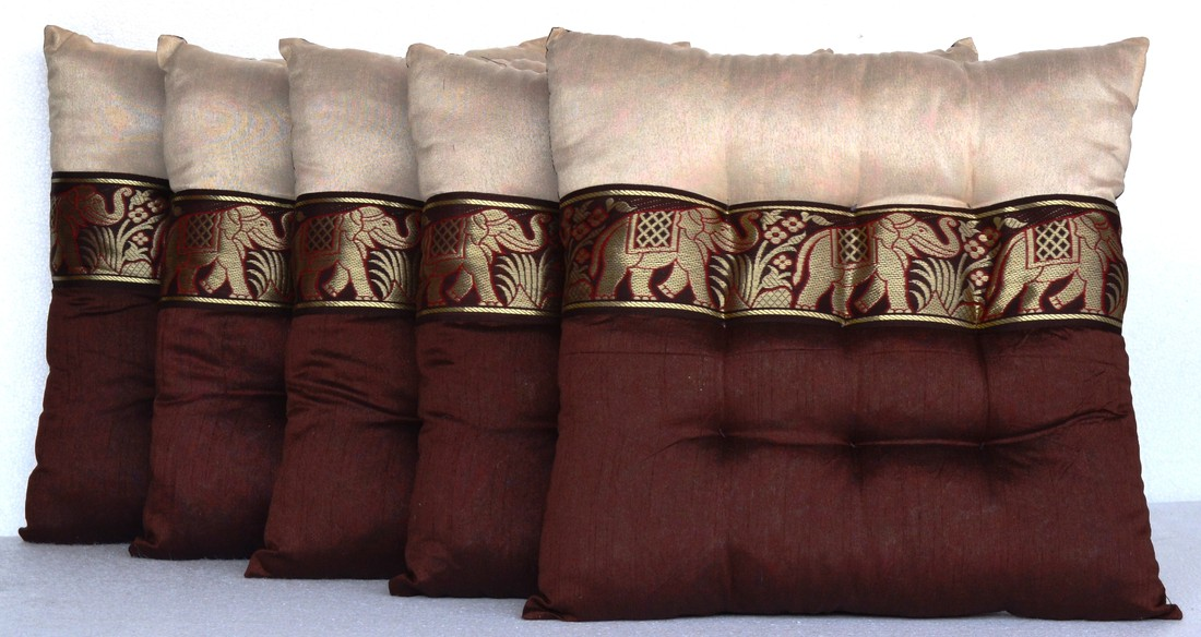 Marudhara Chair Pad Elephant Pillow