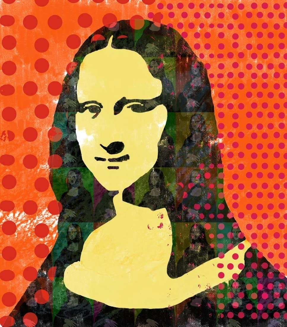 Mona Lisa - Pop Art Paper Print
