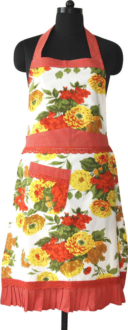 Morning Blossom Women Free Bib Apron