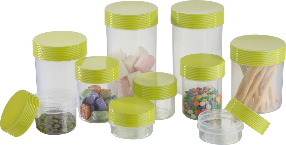 Polyset Green Honey 10 Pcs Container 1475 ml, 1050 ml, 340 ml, 540 ml, 225 ml