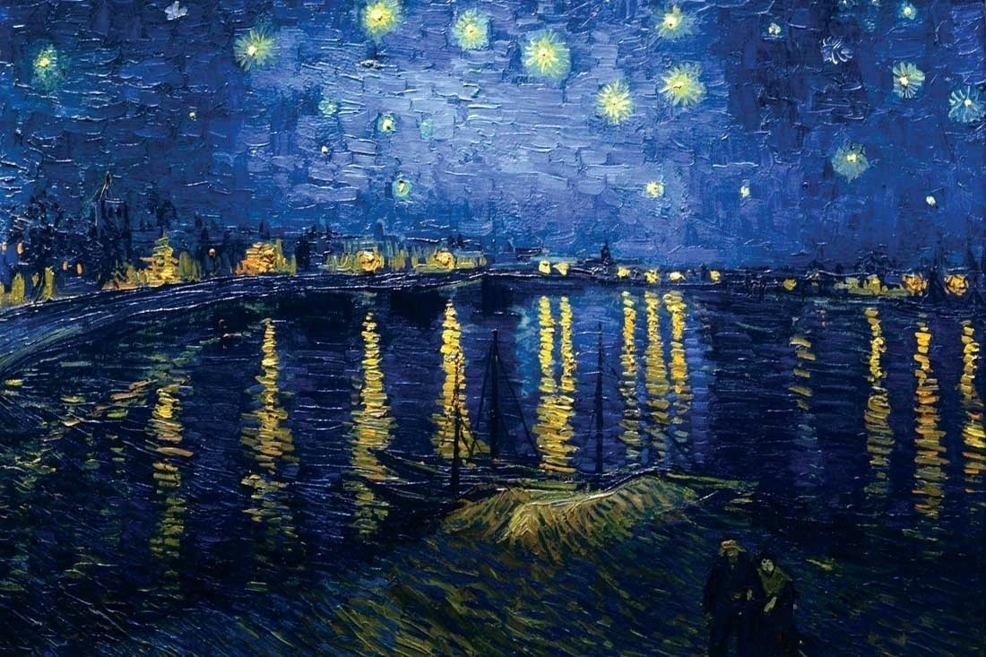 Starry Night Over the Rhone by Vincent van Gogh Fine Art Print