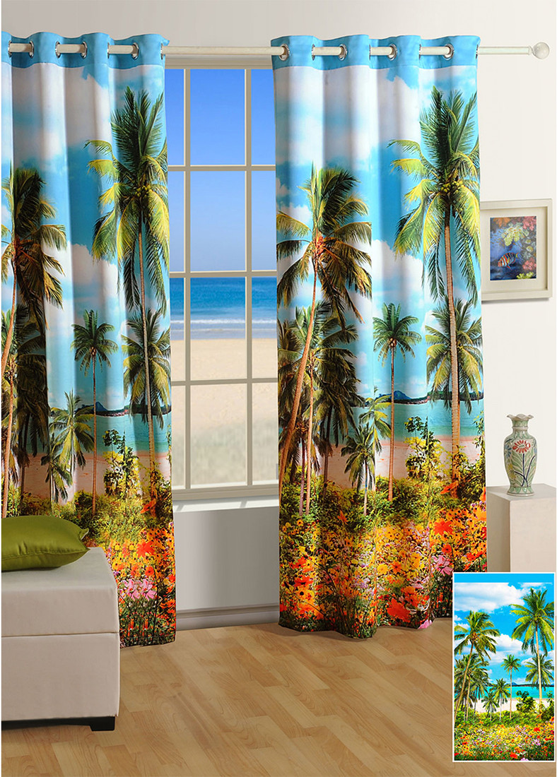 Swayam Digitally Printed Cosmo Fashion Window Curtain