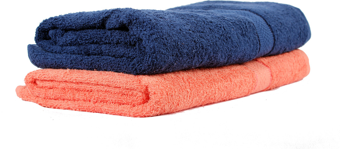 Trident Midnight Blue & Pretty Peach Home Essentials Bath Towel